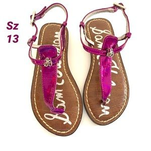 Sam Edelman Girl's Purple Sandals With Charm🏖13